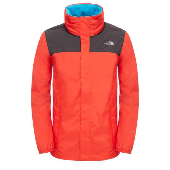 The North Face Resolve Reflective Jacket B - Fiery Red/Asphat Grey