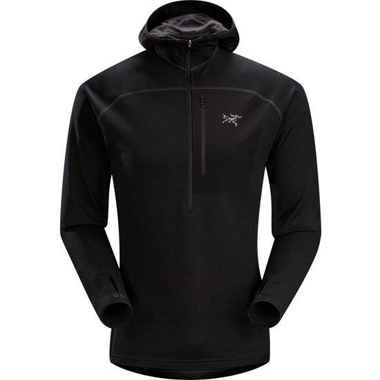 Arc'teryx Konseal Hoody 3/4 Zip - Black