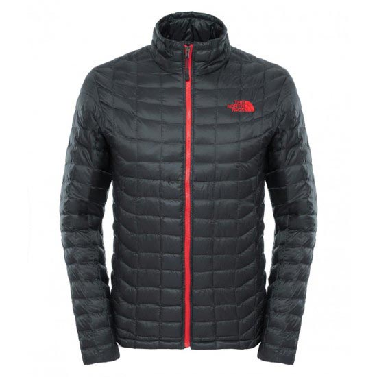 The North Face Thermoball Full Zip Jacket - Asphalt Grey/TNF Red