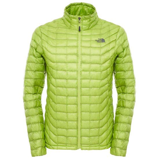 The North Face Thermoball Full Zip Jacket - Macaw Green/Macaw Green Cirrus Print
