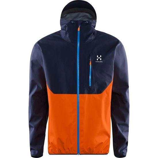 Haglöfs Gram Comp Jacket - Deep Blue/Tangerine