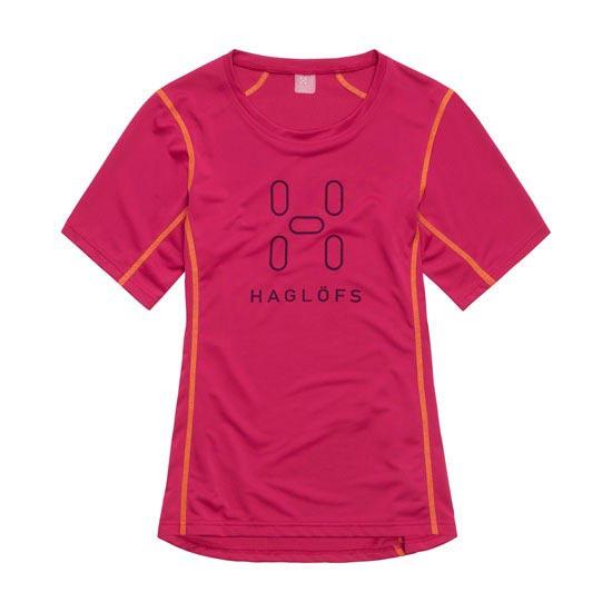 Haglöfs Intense  Logo Tee W - Volcanic Pink