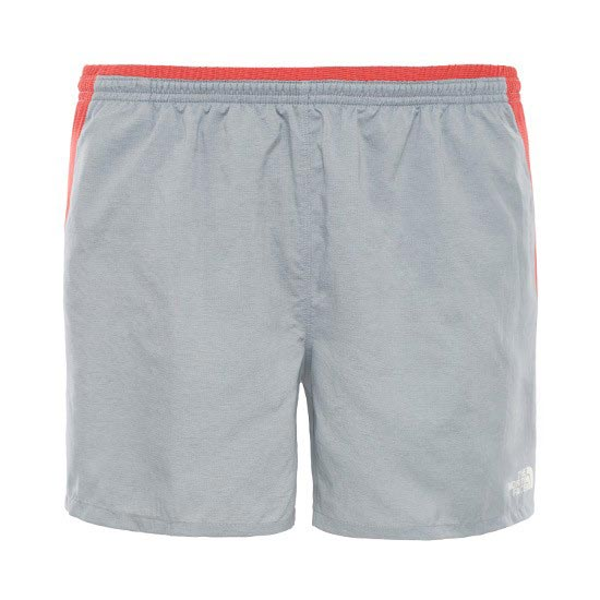 The North Face Better Than Naked Short 5 - Mid Grey/Pompeian Red