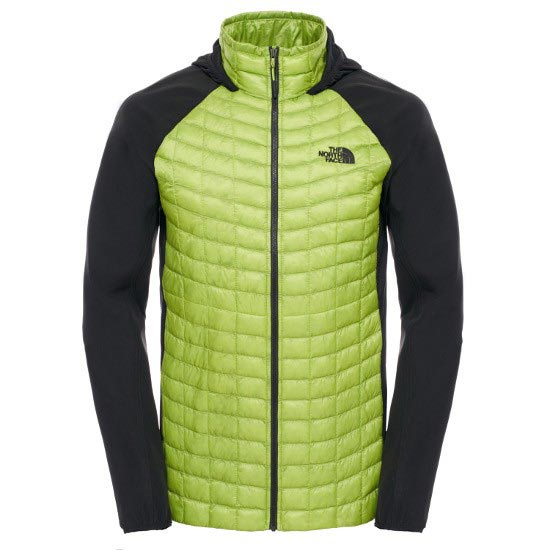 The North Face Thermoball Hybrid Hoodie - Macaw Green/Tnf Black