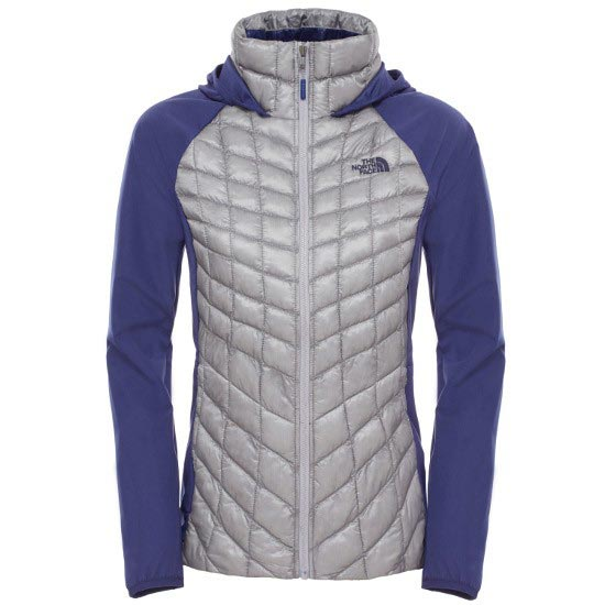 The North Face Thermoball Hybrid Hoodie W - Mid Grey/Patriot Blue