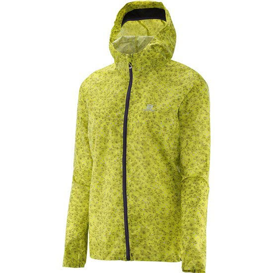 Salomon Fast Wing Graphic Hoodie W - Yuzu Yellow