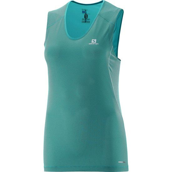 Salomon Trail Runner Sleeveless Tee W - Teal Blue