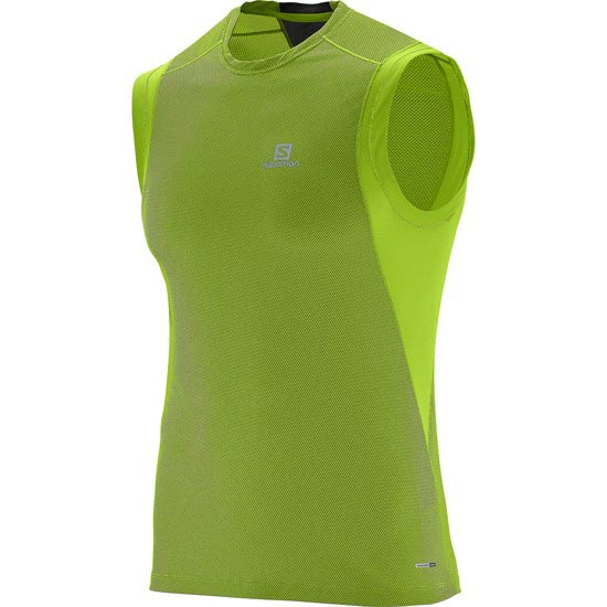 Salomon Trail Runner Sleeveless Tee - Granny Green