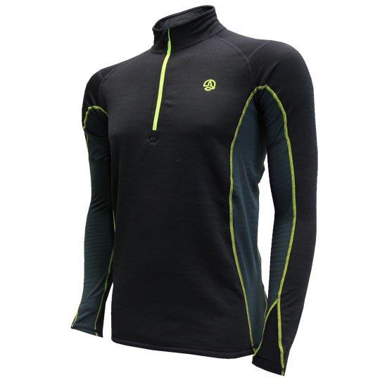 Ternua Camiseta Noshaq 1/2 Top - Negro/Antracita