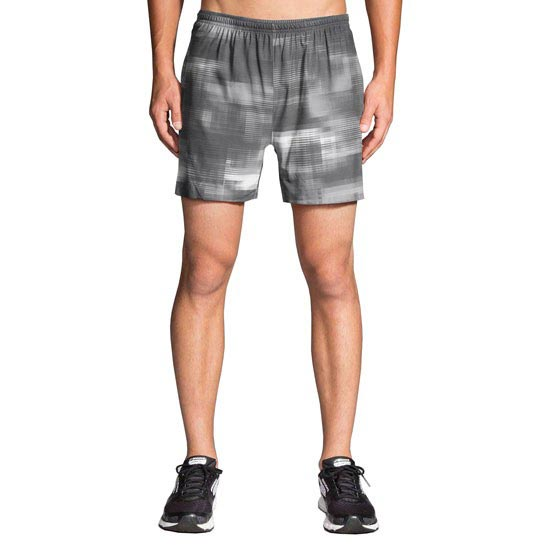 Brooks Sherpa 5 Short - Grey/White