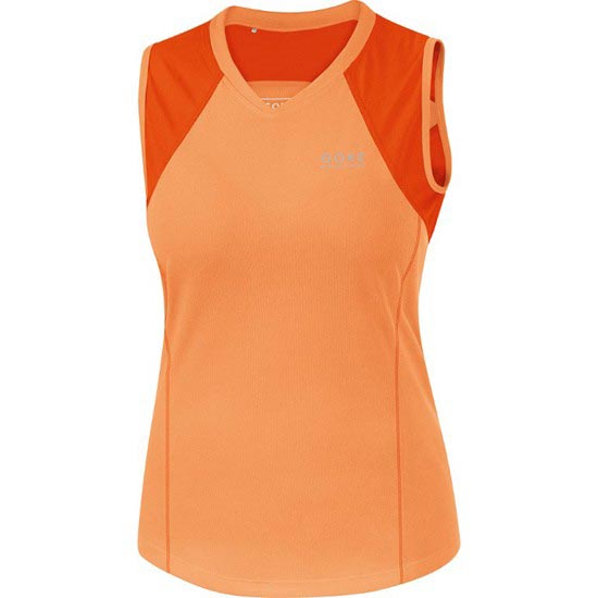 Gore Running Wear Essential Lady 2.0 Singlet - Raven Brown/Blaze Orange