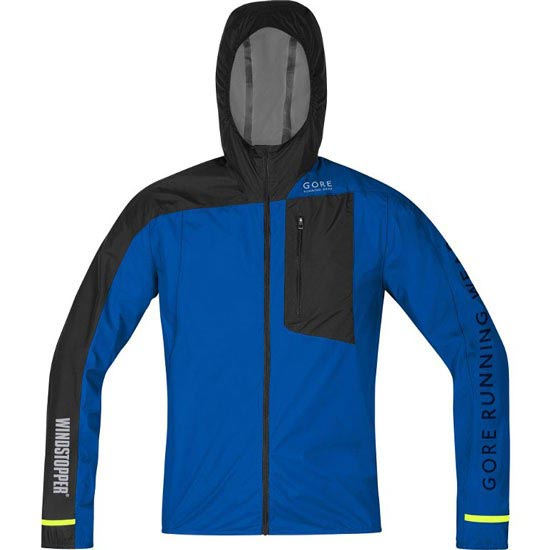 Gore Running Wear Fusion Windstopper Active Shell Jacket - Brilliant Blue/Black
