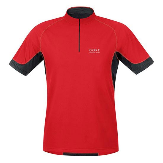 Gore Running Wear X-Running 2.0 Zip Shirt - Red/Black