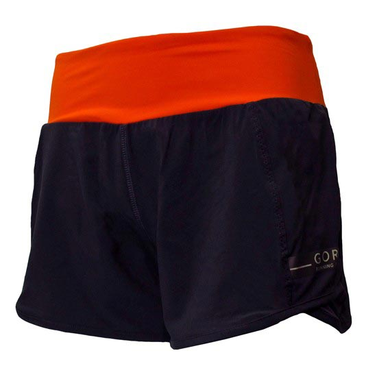 Gore Running Wear Air Shorts W - Raven Brown/Blaze Orange