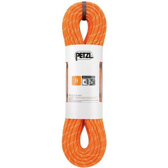 Petzl Push 9 mm x 40 m - Naranja