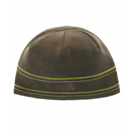 The North Face The North Face Logo Beanie - Black Ink Green/Dark Eggplant Purple