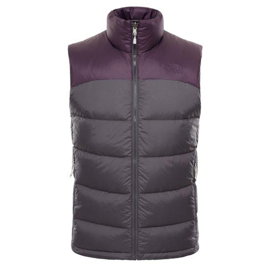 The North Face Nuptse 2 Vest - Asphalt Grey/Dark Eggplant Purple