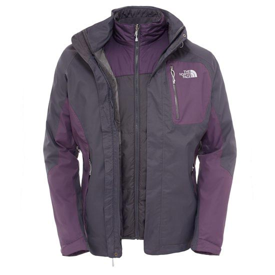 The North Face Zenith Triclimate Jacket - Asphalt Grey/Dark Eggplant Purple