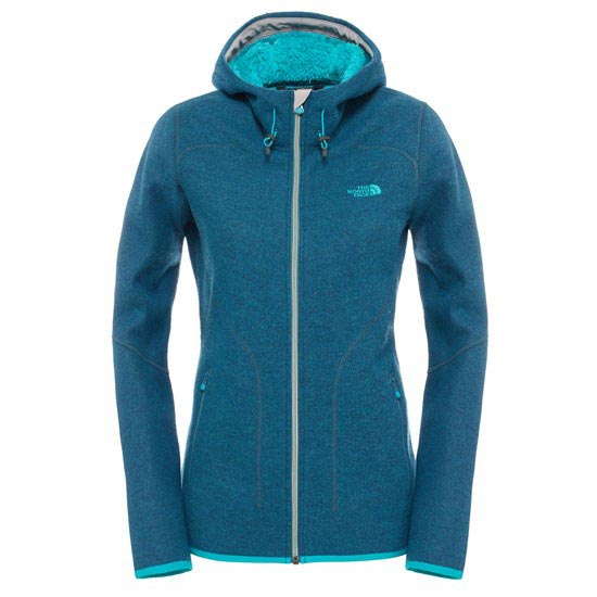 The North Face Zermatt Full Zip Hoodie W - Balsam Blue Heather