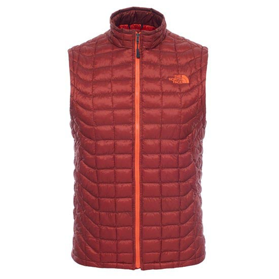 The North Face Thermoball Vest - Brick House Red/Acrylic Orange