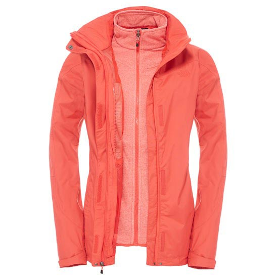 The North Face Zephyr Triclimate Jacket - Melon Red