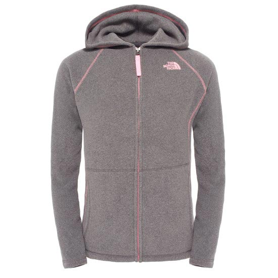 The North Face Glacier Full Zip Hoodie G - Graphite Grey/Pink