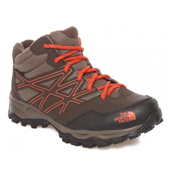 The North Face Hedgehog Mid  Jr - Coffee Brown/Valencia Orange