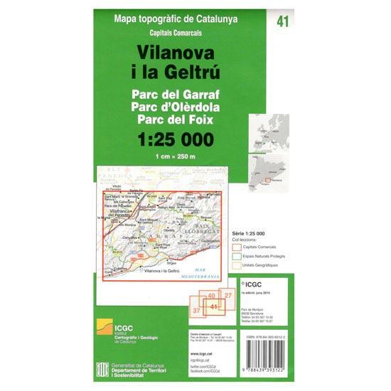 Icc (catalunya) Mapa Vilanova i la Geltrú 1:25000 -