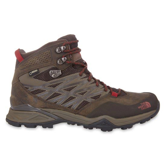 The North Face Hedgehog Hike Mid GTX - Weimaraner Brown/Rosewood Red