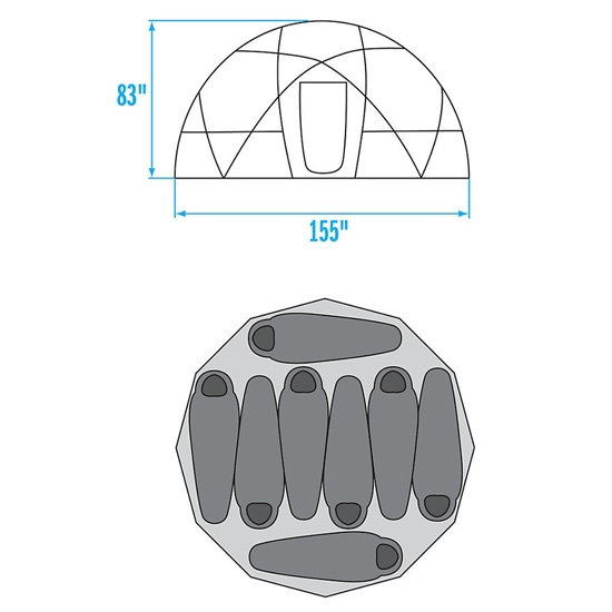 The North Face 2-Meter Dome - Photo of detail