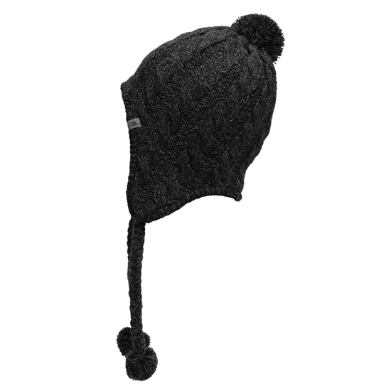 The North Face Fuzzy Earflap Beanie W - TNF Black/TNF Black