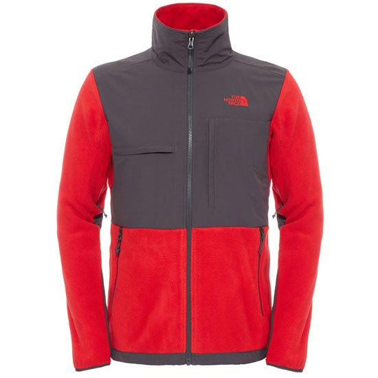 The North Face Denali II Jacket - Tnf Red / Asphalt Grey