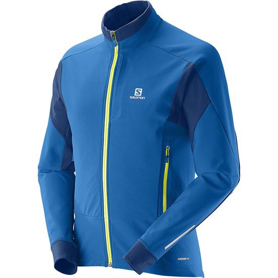 Salomon Momentum Softshell Jacket - Bleu