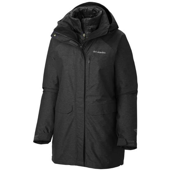 Columbia Mystic Pines Long Interchange Jacket W - Black