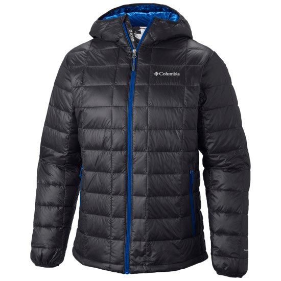 Columbia Trask Mountain 650 TurboDown Hooded Jkt - Black/Hyper Blue