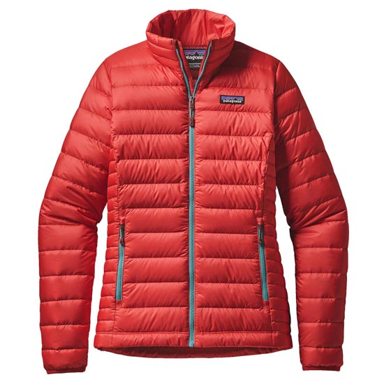 Patagonia Down Sweater W - French Red/Mogul Blue