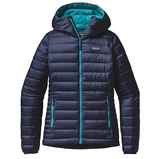 Patagonia Down Sweater Hoody W - Navy Blue/Epic Blue
