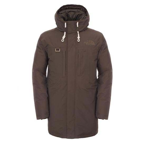The North Face Himalayan Long Parka - Black Ink Green