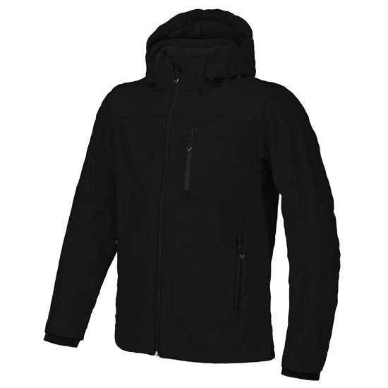 Campagnolo Softshell Zip Hood Jacket - Nero