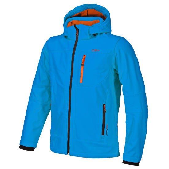 Campagnolo Softshell Zip Hood Jacket - China Blue