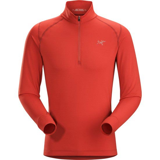 Arc'teryx Thetis Zip Neck - Vermillon