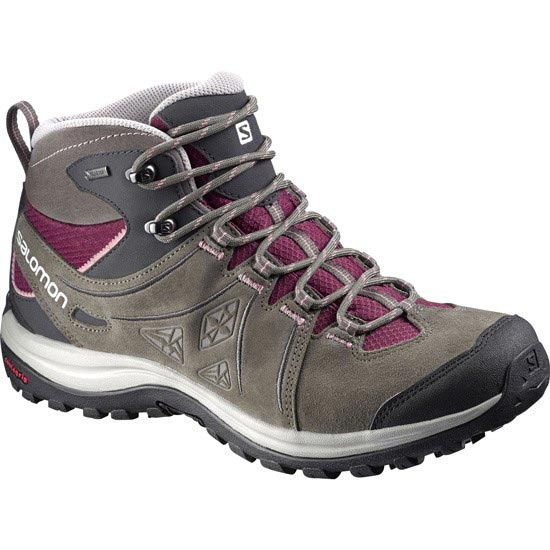 Salomon Ellipse 2 Mid Leather Gtx W - Bordeaux Swamp