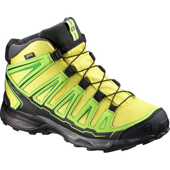 Salomon X Ultra Mid Gtx Jr - Corona Yellow/Granny Green