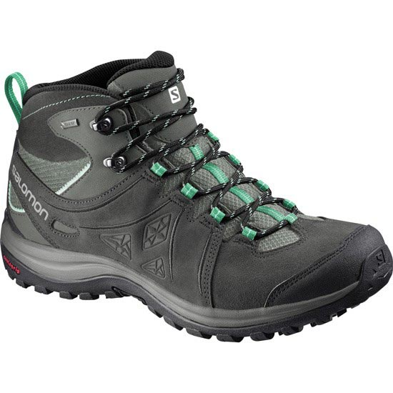 Salomon Ellipse 2 Mid Leather Gtx W - Light Asphalt/Green