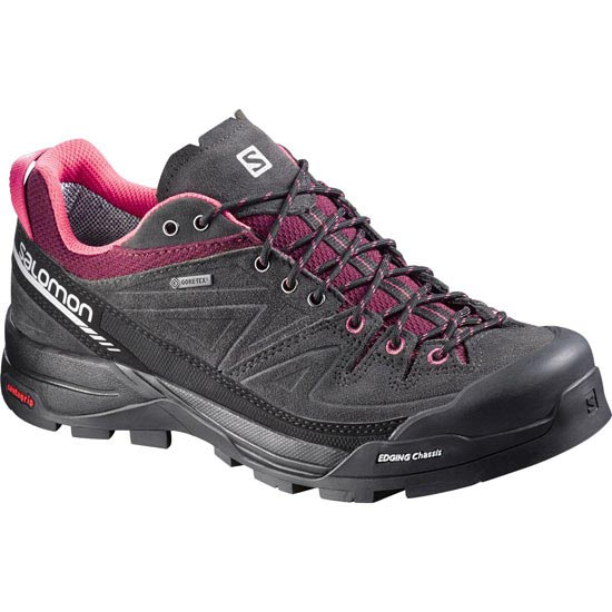 Salomon X Alp Leather GTX W - Asphalt/Bordeaux
