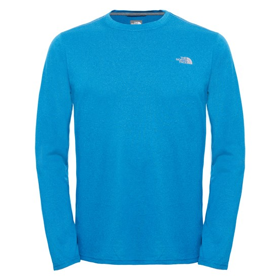 The North Face Reaxion Amp L/S Crew - Banff Blue Heather
