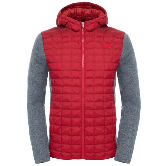 The North Face ThermoBall Gordon Lyons Hoodie - TNF Red/TNF Medium Grey Heather