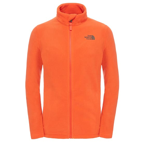 The North Face Snow Quest Full Zip Jr - Mandarin Red