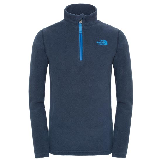 The North Face Glacier 1/4 Zip Youth - Cosmic Blue Heather
