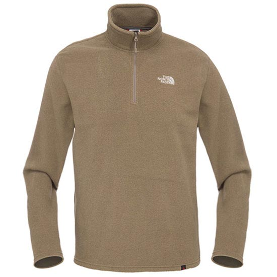 The North Face M 100 Glacier 1/4 Zip - Weimaraner Brown Heather